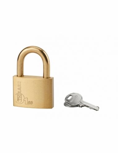 Cadenas à clé Type 1, laiton, extérieur, anse laiton, 60mm, 2 clés - THIRARD Cadenas