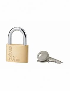 Cadenas à clé Type 1, laiton, intérieur, anse acier, 50mm, 2 clés - THIRARD Cadenas
