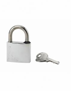 Cadenas à clé Type 1, laiton, extérieur, anse inox, 45mm, 2 clés - THIRARD Cadenas