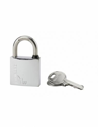 Cadenas à clé Type 1, laiton, extérieur, anse inox, 35mm, 2 clés - THIRARD Cadenas
