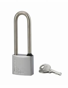 Cadenas à clé Type 1, laiton, extérieur, anse 1/2 inox, 35mm, 2 clés - THIRARD Cadenas