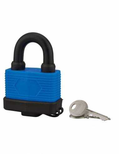 Cadenas à clé Slice, acier, extérieur, anse acier, 65mm, 2 clés - THIRARD Cadenas