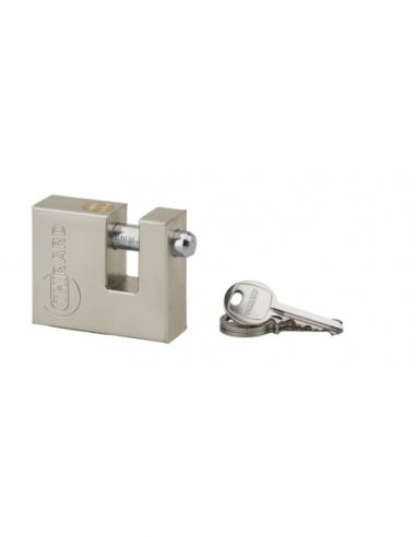 Cadenas à clé prisonnière Land, extérieur, acier nickelé, 50mm, 3 clés - THIRARD Cadenas
