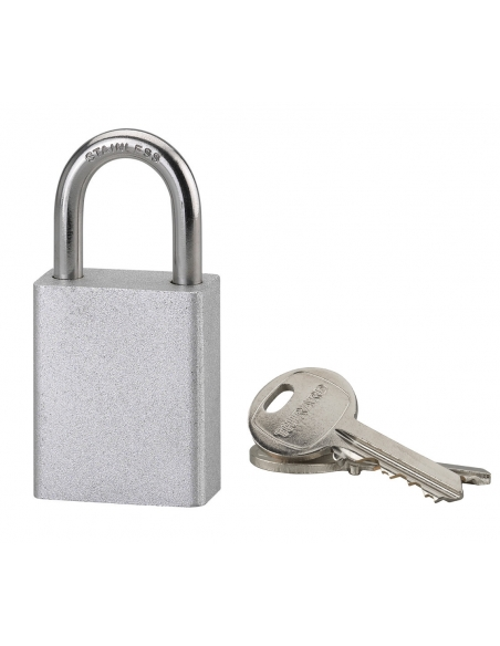 Cadenas à clé Cobble, extérieure, acier, anse inox, 38mm, 2 clés/cadenas - THIRARD Cadenas