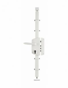 Boitier de serrure en applique Melissa à fouillot pour porte d'entrée, droite, 3 pts, axe 50mm, blanc - THIRARD Serrure en ap...
