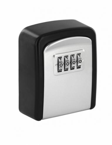 Boite à clé à combinaison, 4 chiffres, acier, avec anse, noir - THIRARD Boîte à clés