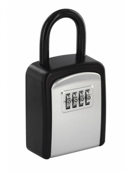 Boite à clé à combinaison, 4 chiffres, acier, 37x75mm,avec anse, noir - THIRARD Boîte à clés