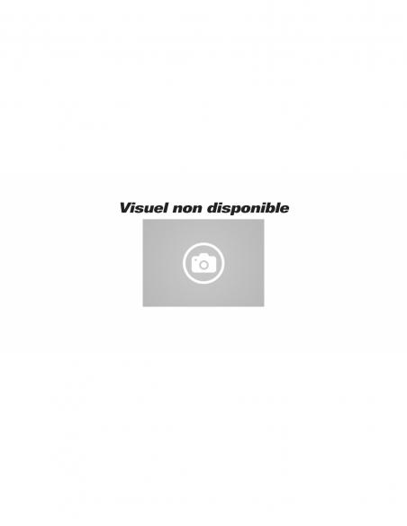 Paire de béquilles pour porte, carré 7mm, rosace ovale, aspect inox - THIRARD Poignée