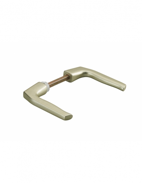 Paire de béquilles Targa pour porte, carré 7mm, 1 portée, or - THIRARD Poignée