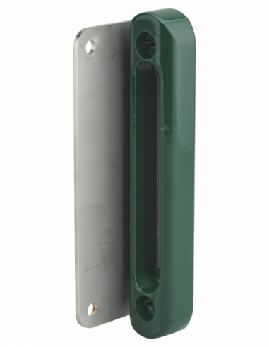 Gâche à visser pour serrure en applique pour portail, vert 6005 - THIRARD Gâche de porte