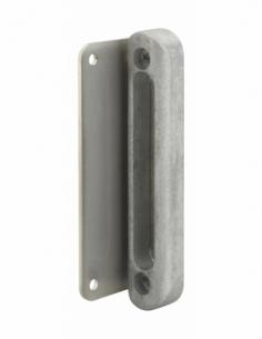 Gâche à visser pour serrure en applique pour portail, aluminium - THIRARD Gâche de porte