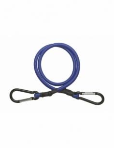 Tendeur en caoutchouc à mousquetons, 18mmx80cm, bleu - THIRARD Sangle