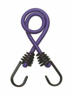 Lot de 2 tendeurs en caoutchouc à crochets, 8mmx45cm, violet - THIRARD Sangle