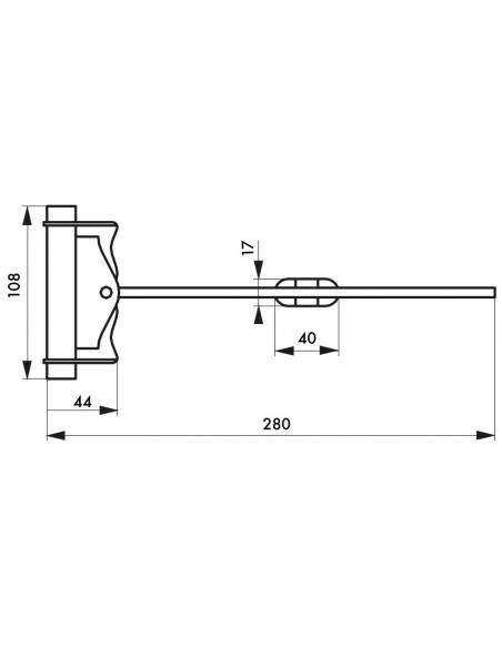 Ferme-porte automatique à barillet, acier, noir - THIRARD Equipement