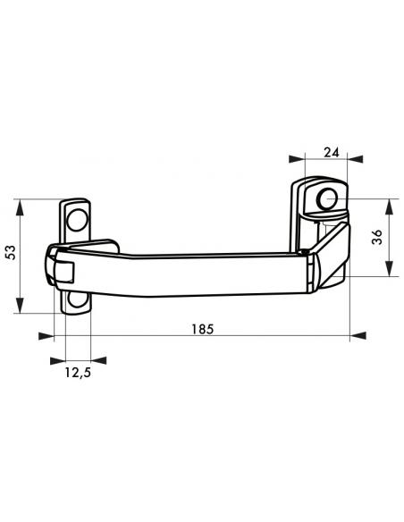 Entrebailleur pour fenêtre coulissante, 185mm, blanc - THIRARD Equipement