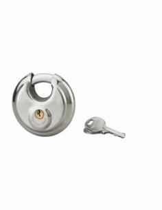 Cadenas à clé Astra, inox, intérieur, anse acier, 80mm, 2 clés - THIRARD Cadenas
