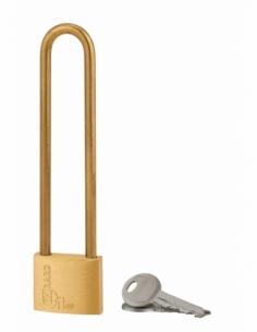 Cadenas à clé Type 1, laiton, intérieur, anse acier, 40mm, 2 clés - THIRARD Cadenas