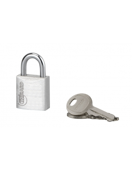 Cadenas à clé Type 1, bagage, aluminium, 20mm, 2 clés - THIRARD Cadenas