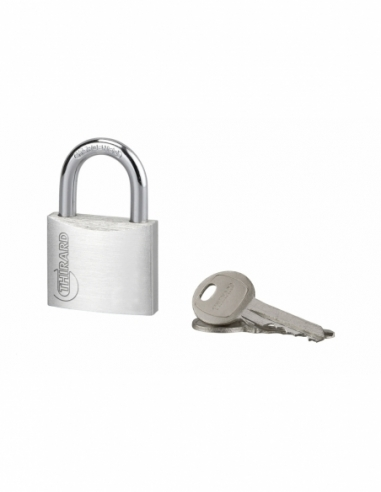 Cadenas à clé Type 1, bagage, aluminium, 40mm, 2 clés - THIRARD Cadenas