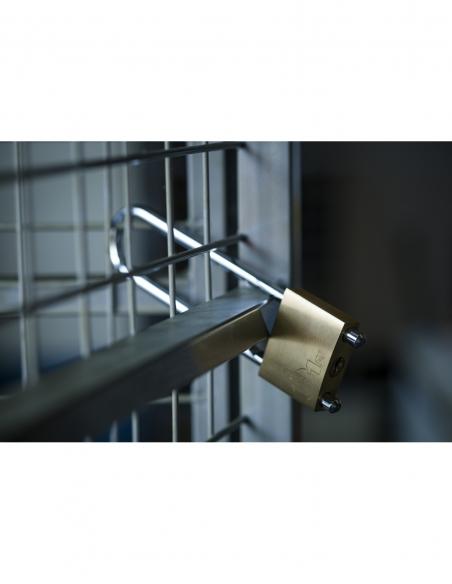 Cadenas à clé Ase Réglable, laiton, intérieur, anse acier, 50mm, 2 clés - THIRARD Cadenas