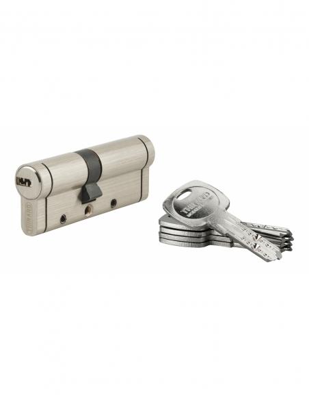 Cylindre de serrure Trafic 12, 35x45mm, nickel, anti-arrachement, anti-perçage, anti-casse, 5 clés - THIRARD Cylindre de serrure