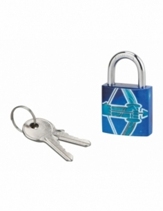 Cadenas à clé Sagittaire, acier, intérieur, anse acier, 30mm, 3 clés - THIRARD Cadenas