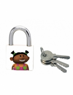 Cadenas à clé Better Life, acier, intérieur, anse acier, 30mm, 3 clés - THIRARD Cadenas
