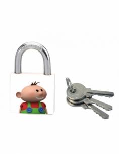 Cadenas à clé Better Idea, acier, intérieur, anse acier, 30mm, 3 clés - THIRARD Cadenas
