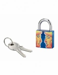Cadenas à clé Gemeaux, acier, intérieur, anse acier, 30mm, 3 clés - THIRARD Cadenas