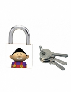 Cadenas à clé Better World, acier, intérieur, anse acier, 30mm, 3 clés - THIRARD Cadenas à clé
