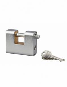 Cadenas à clé prisonnière Land Blindé, acier, extérieur, anse acier, 80mm, 3 clés - THIRARD Cadenas à clé