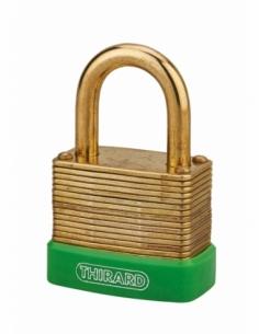 Cadenas à combinaison Amazone, 3 chiffres, laiton, extérieur, anse laiton, 40mm - THIRARD Cadenas à clé