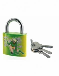 Cadenas à clé Extra Lock Bulmlecom, acier, intérieur, anse acier, 30mm, 3 clés - THIRARD Cadenas à clé