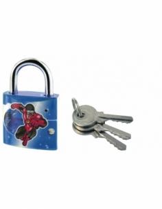 Cadenas à clé Extra Lock Speedcom, acier, intérieur, anse acier, 30mm, 3 clés - THIRARD Cadenas à clé