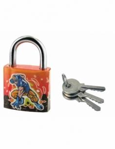 Cadenas à clé Extra Lock Explocom, acier, intérieur, anse acier, 30mm, 3 clés - THIRARD Cadenas à clé