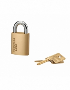 Cadenas à clé Fédéral Lock 510, laiton, chantier, anse acier, 40mm, 2 clés - THIRARD Cadenas à clé
