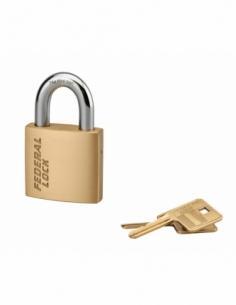 Cadenas à clé Fédéral Lock 530, laiton, chantier, anse acier, 50mm, 2 clés - THIRARD Cadenas à clé