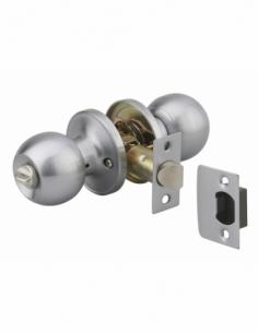 Serrure horizontale tubulaire en applique à condamnation pour porte d'entrée, axe réglable, chromé, 3 clés - THIRARD Serrure ...