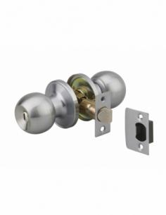 Serrure horizontale tubulaire en applique à condamnation pour porte intérieur, axe réglable, chromé - THIRARD Serrure encastr...