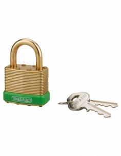 Cadenas à clé Amazone, laiton, extérieur, anse laiton, 40mm, 2 clés - THIRARD Cadenas à clé