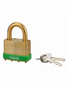Cadenas à clé Amazone, laiton, extérieur, anse laiton, 50mm, 2 clés - THIRARD Cadenas à clé