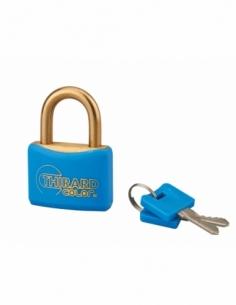 Cadenas à clé Mach, laiton, extérieur, anse laiton, 40mm, 2 clés - THIRARD Cadenas à clé