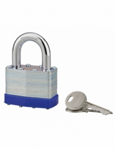 Cadenas à clé Slice, acier, intérieur, anse acier, 50mm, 2 clés - THIRARD Cadenas à clé