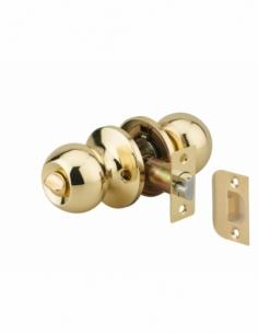 Serrure horizontale tubulaire en applique à condamnation pour porte d'entrée, axe réglable, doré, 3 clés - THIRARD Serrure en...