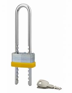 Cadenas à clé Upper, intérieur, anse réglable, Ø7mm, zingué, 2 clés - THIRARD Cadenas à clé