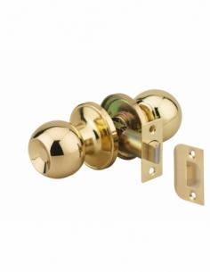 Serrure horizontale tubulaire en applique pour porte intérieure, axe réglable, doré - THIRARD Serrure encastrable