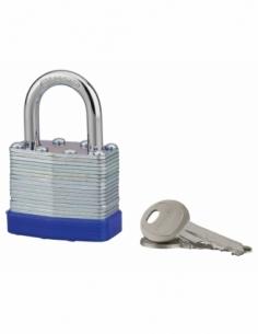 Cadenas à clé Slice, intérieur, corps lamelles acier, 40mm, 2 clés - THIRARD Cadenas à clé