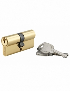 Cylindre de serrure double entrée, 35x35mm, anti-arrachement, laiton, 3 clés - THIRARD Cylindre à double entrée