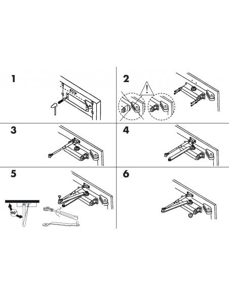 Ferme-porte automatique hydraulique + 30kg, arrêt 90°, laqué gris - THIRARD Equipement