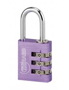 Cadenas à code Type 1 Alu, 30mm, 3 chiffres - THIRARD Cadenas à clé